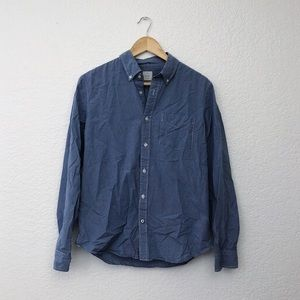 Gap Blue Micro Grid Button Down